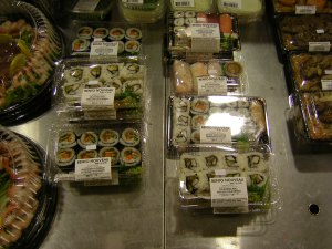 sushi in TO supermarket