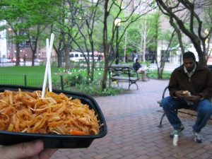 pad thai in the park
